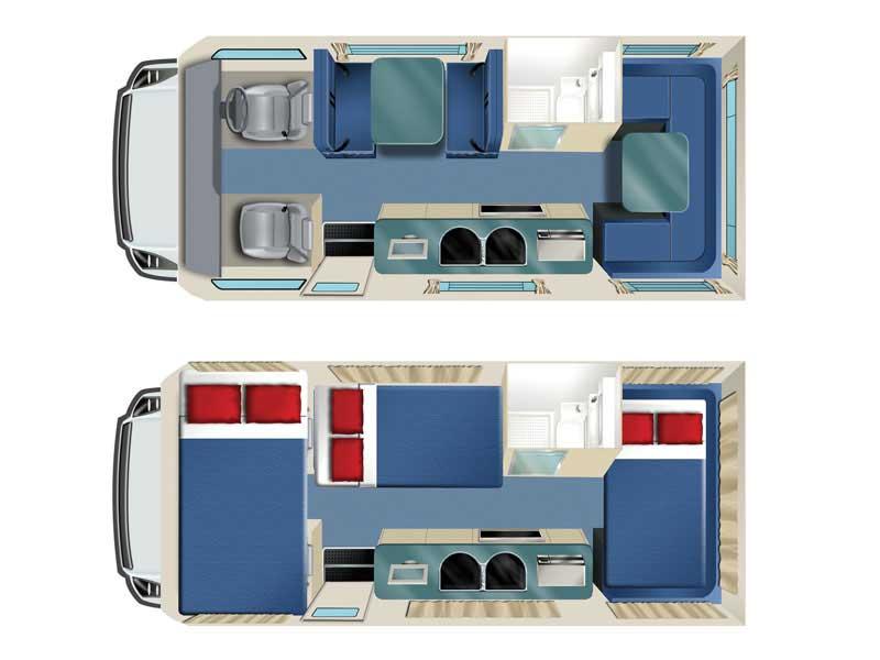 Cheapa Campa 6 Berth Camping Car Budget 6 Personnes