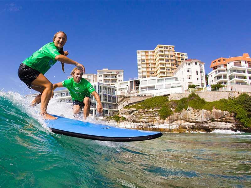 Carte Australie Surf.Cours De Surf A Bondi Excursion New South Wales