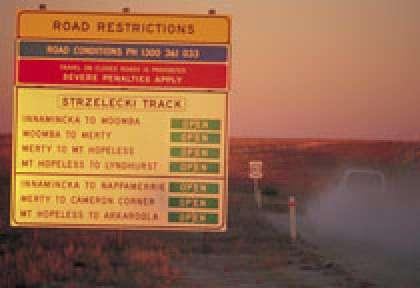 Panneau routier australien