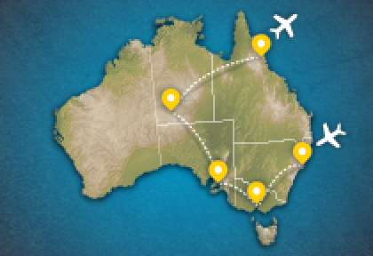 Carte circuit l'incontournable australien