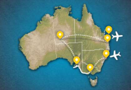 Carte circuit Australie essentielle