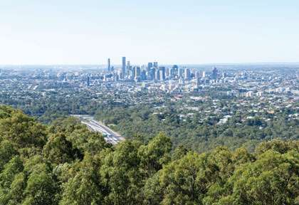 Point de vue de Brisbane depuis Mount Coot-Tha