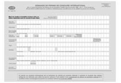 Formulaire demande de permis de conduire international